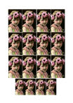 Flower Girl Collage Sheet For ATCs